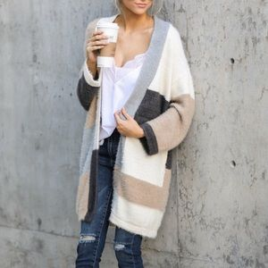 Cover The Basics Beige Multi Cardigan